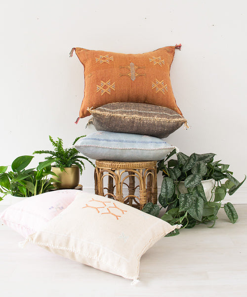 "Moroccan ""Cactus Silk"" Pillow X - Sister Golden"