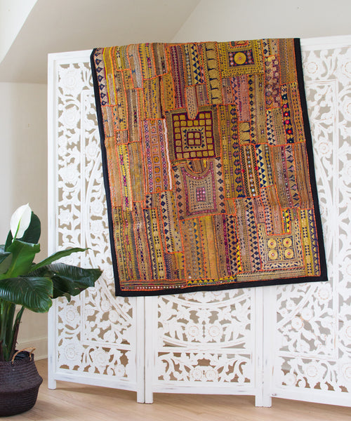 Embroidered Patchwork Tapestry XXII