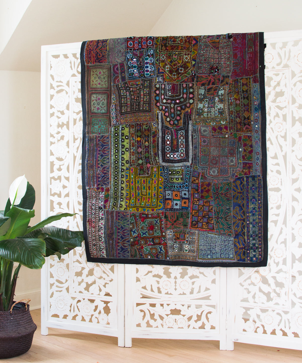 Embroidered Patchwork Tapestry XXIV