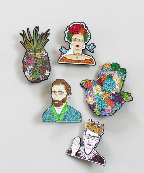 What Would Frida Do? Enamel Pin - Sister Golden