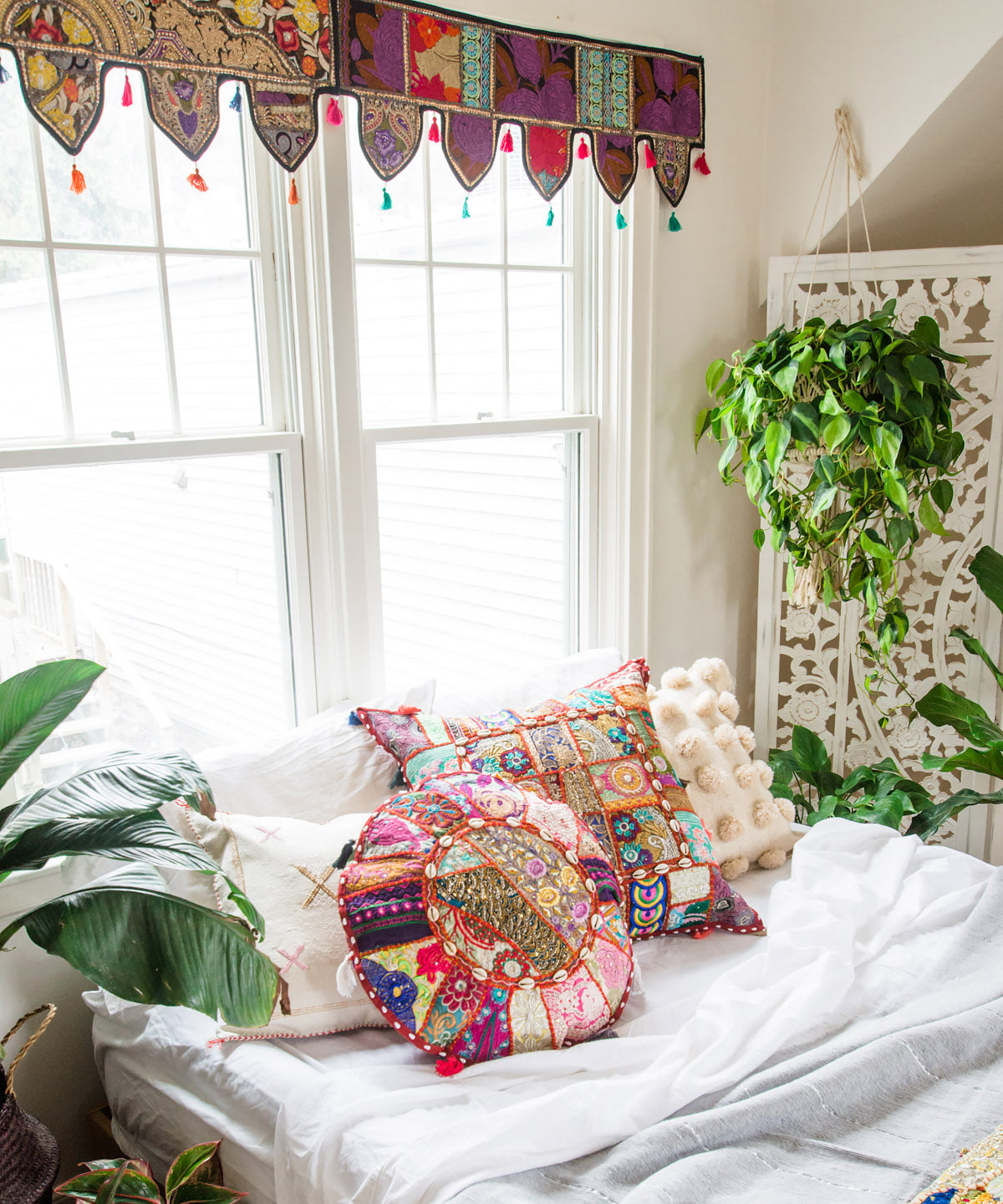 Indian Patchwork Pillow V