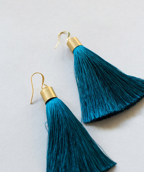 Prussian Tassel Earrings - Sister Golden