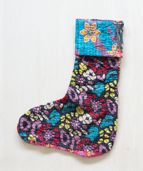 Kantha Stocking XIX - Sister Golden