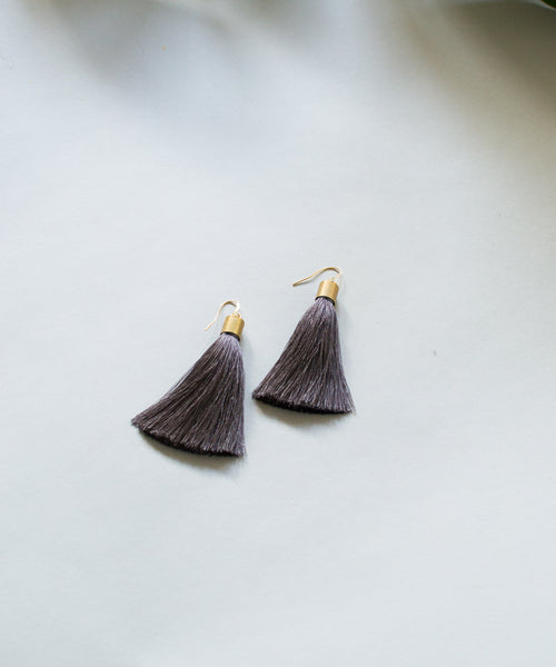 Smoke Tassel Earrings - Sister Golden