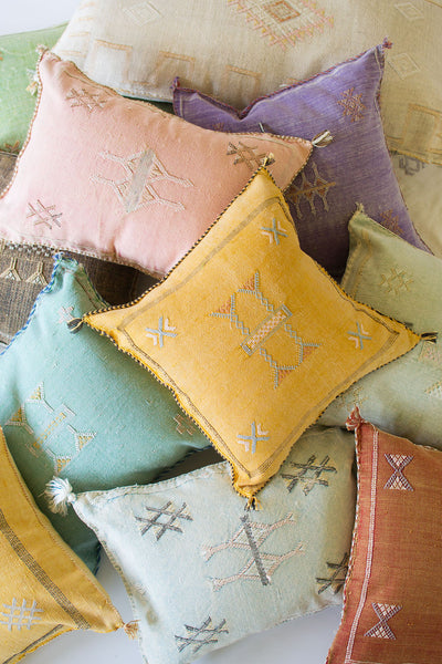 "Faded Purple ""Cactus Silk"" Pillow - Sister Golden"