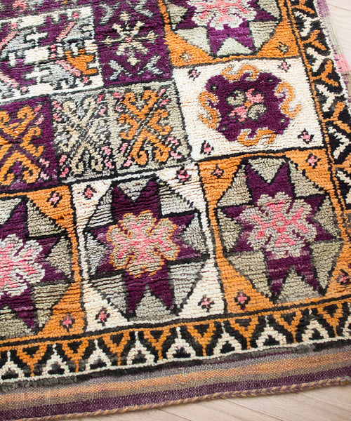Huri Vintage Turkish Rug - Sister Golden