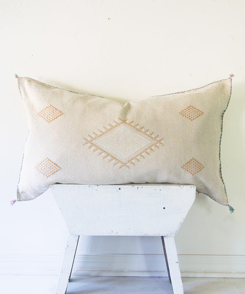 "Sand ""Cactus Silk"" Pillow"