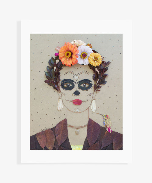"""Day of the Dead Frida"" Flower Print"