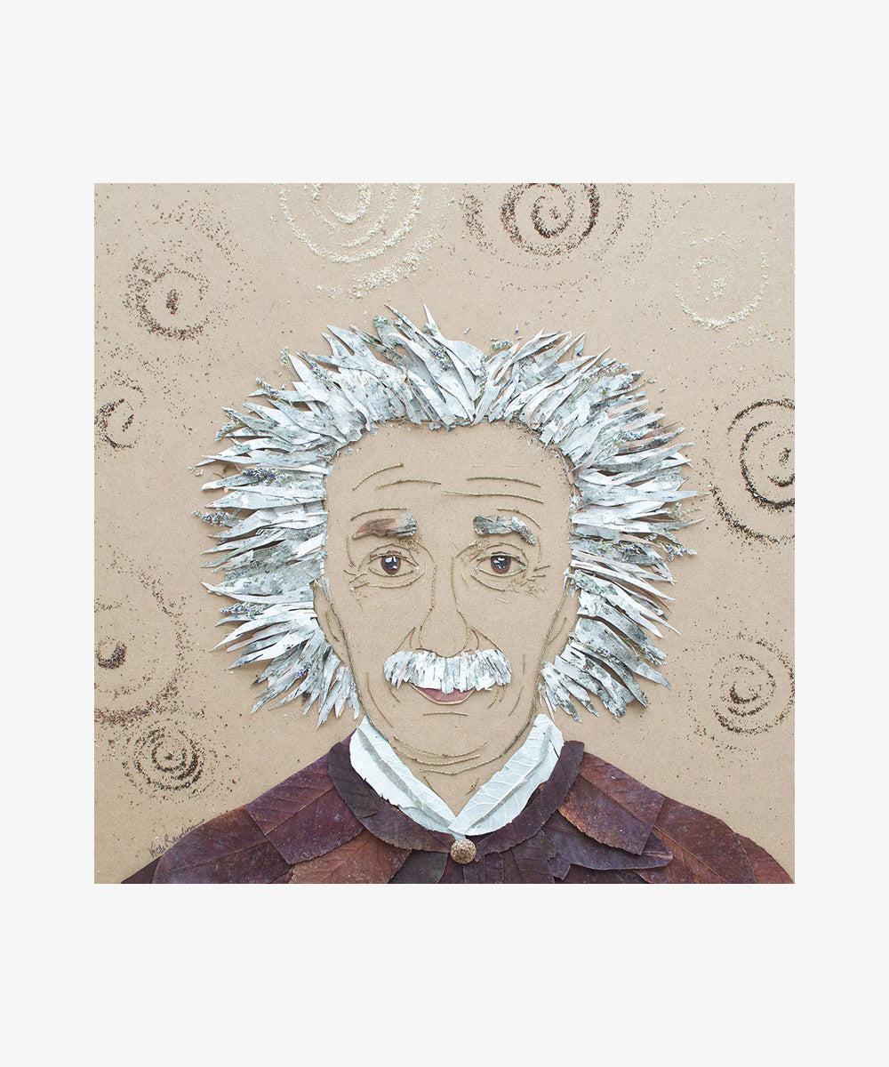 """Einstein"" Flower Print"