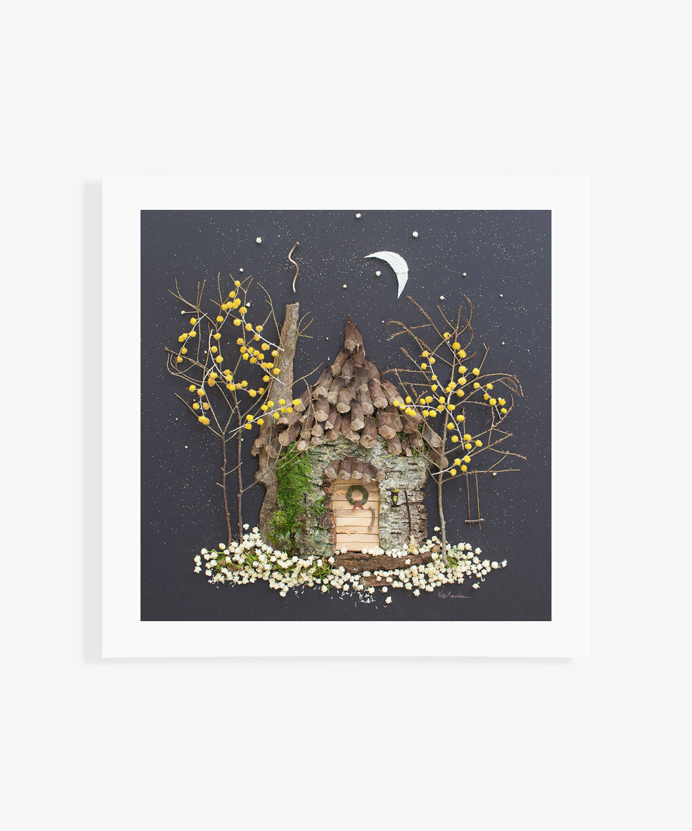 """Fairy Merry Christmas"" Flower Print - Sister Golden"