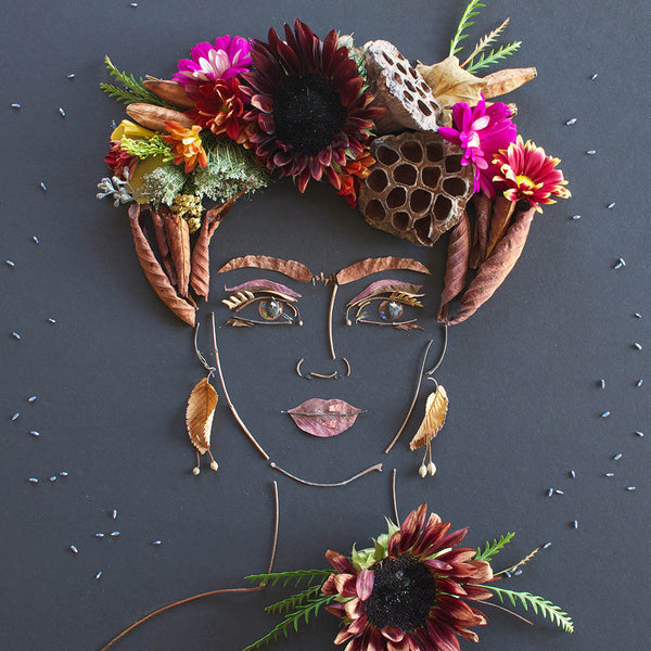 """Harvest Frida"" Flower Face Print"