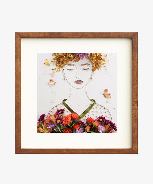 """Feed Your Soul"" Flower Face Print"