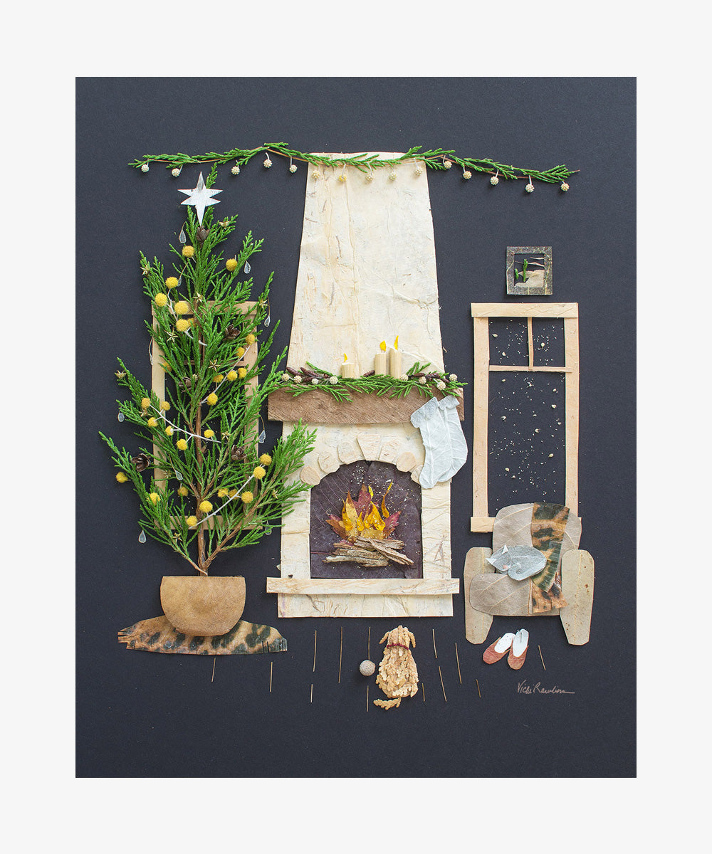 """Fireside Friends"" Flower Print"