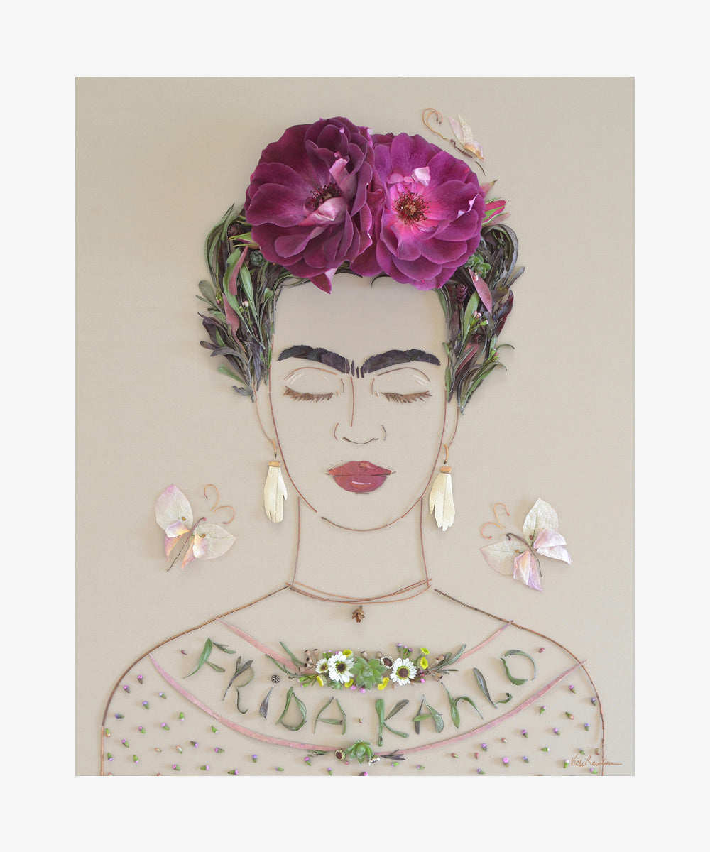 """Frida Kahlo"" Flower Print"
