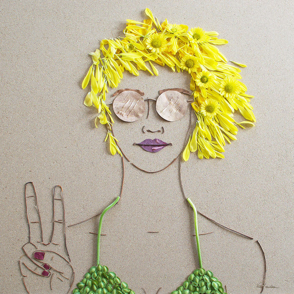 """Peace Out"" Flower Print - Sister Golden"