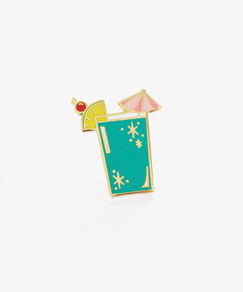Tropical Blue Cocktail Pin - Sister Golden