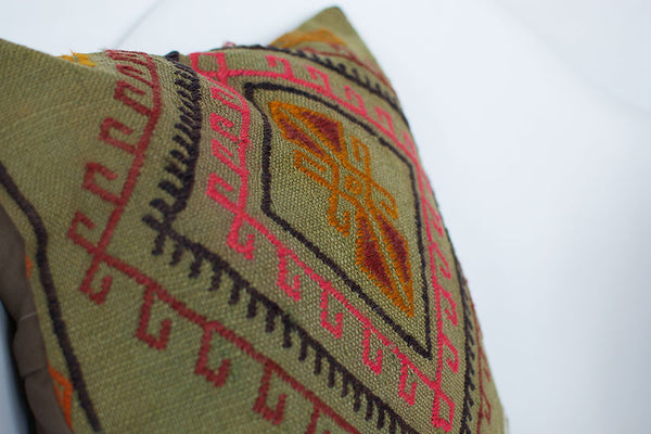 Green Gypsy Kilim Pillow II