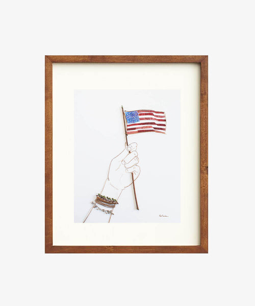 """Land of the Free"" Flower Print"