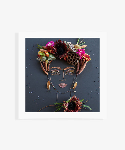 """Harvest Frida"" Flower Print - Sister Golden"