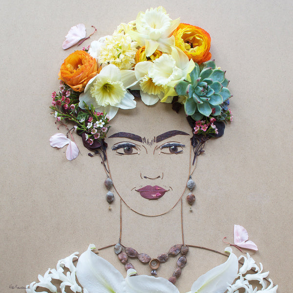 """Independence Frida"" Flower Face Print"