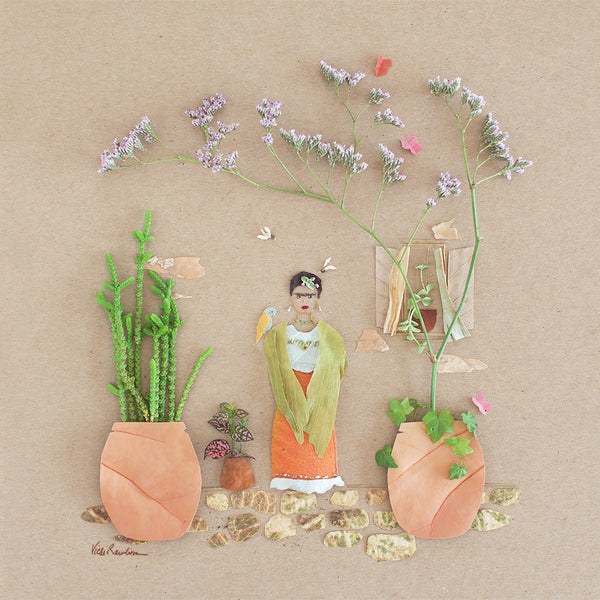 """Mini Garden Frida"" Flower Print - Sister Golden"