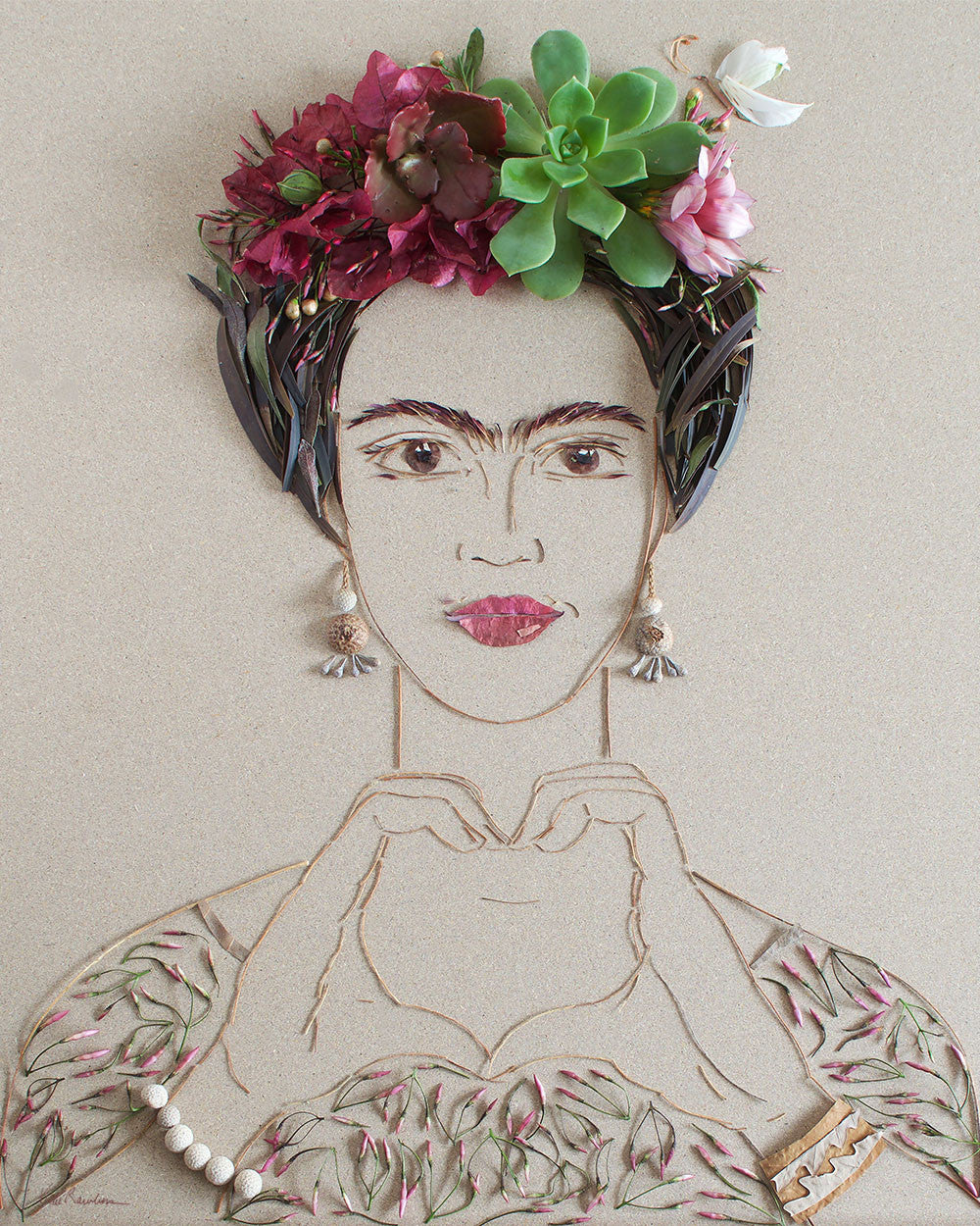 """Choose Love Frida"" Flower Print - Sister Golden"