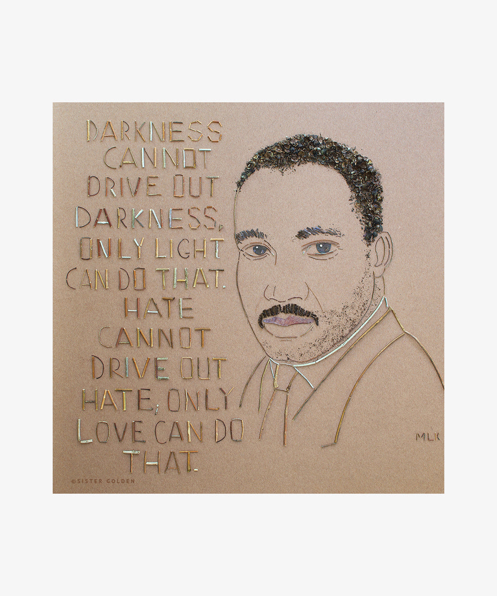 """MLK"" Flower Art Print"