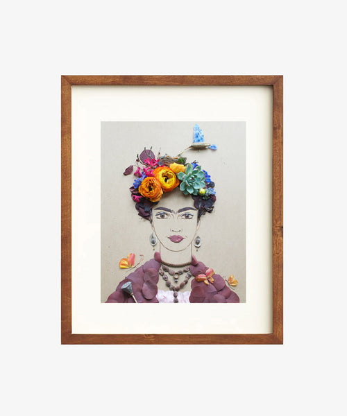 """Mama Bird Frida"" Flower Print"