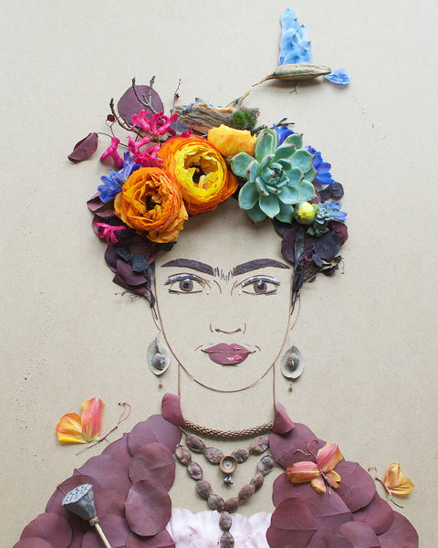 """Mama Bird Frida"" Flower Print - Sister Golden"