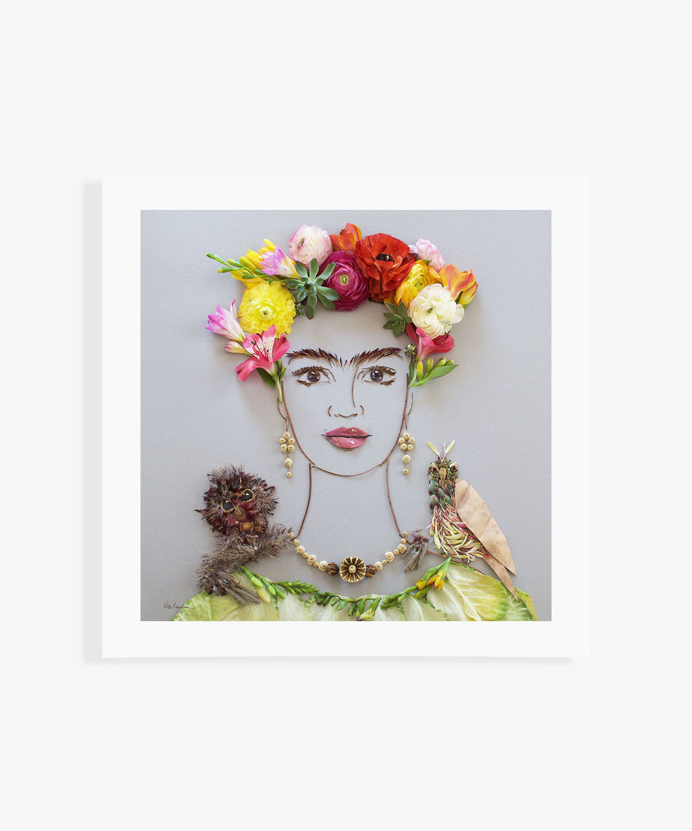 """Frida & Pets"" Flower Print - Sister Golden"