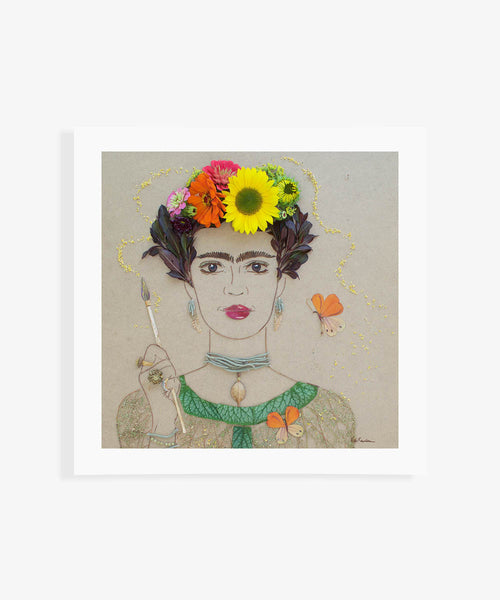 """Self Portrait Frida"" Flower Print"
