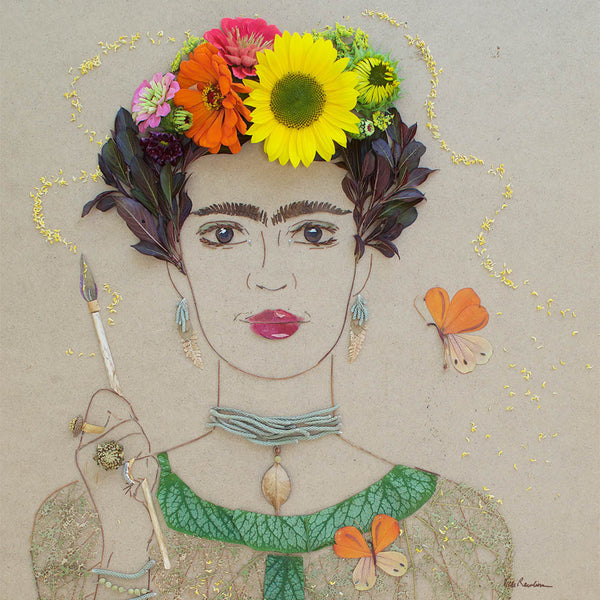 """Self Portrait Frida"" Flower Print - Sister Golden"