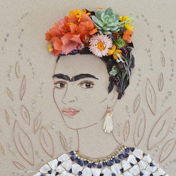 """Picasso Frida"" Flower Print - Sister Golden"