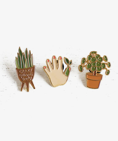 Plant Lady Enamel Pins - Sister Golden