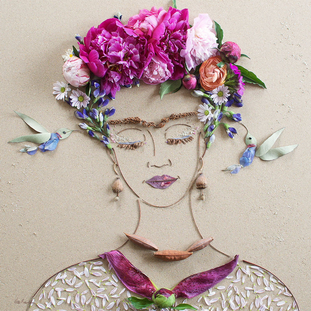 """Frida & The Hummingbirds"" Flower Print"