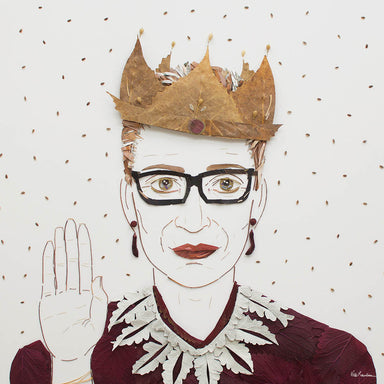 """The Notorious RBG"" Flower Print - Sister Golden"