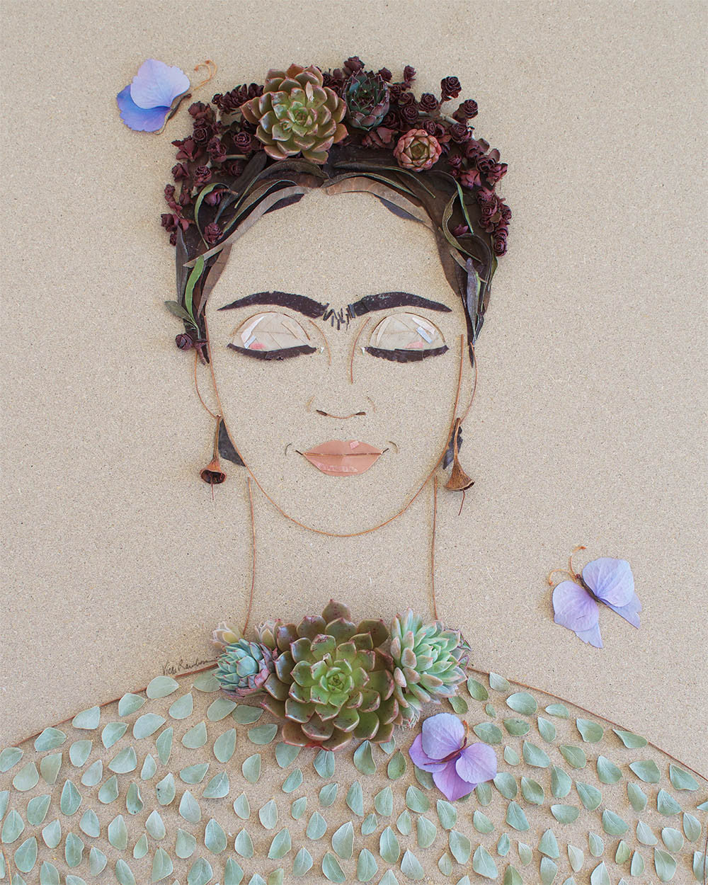 """Wind & Sea Frida"" Flower Print"