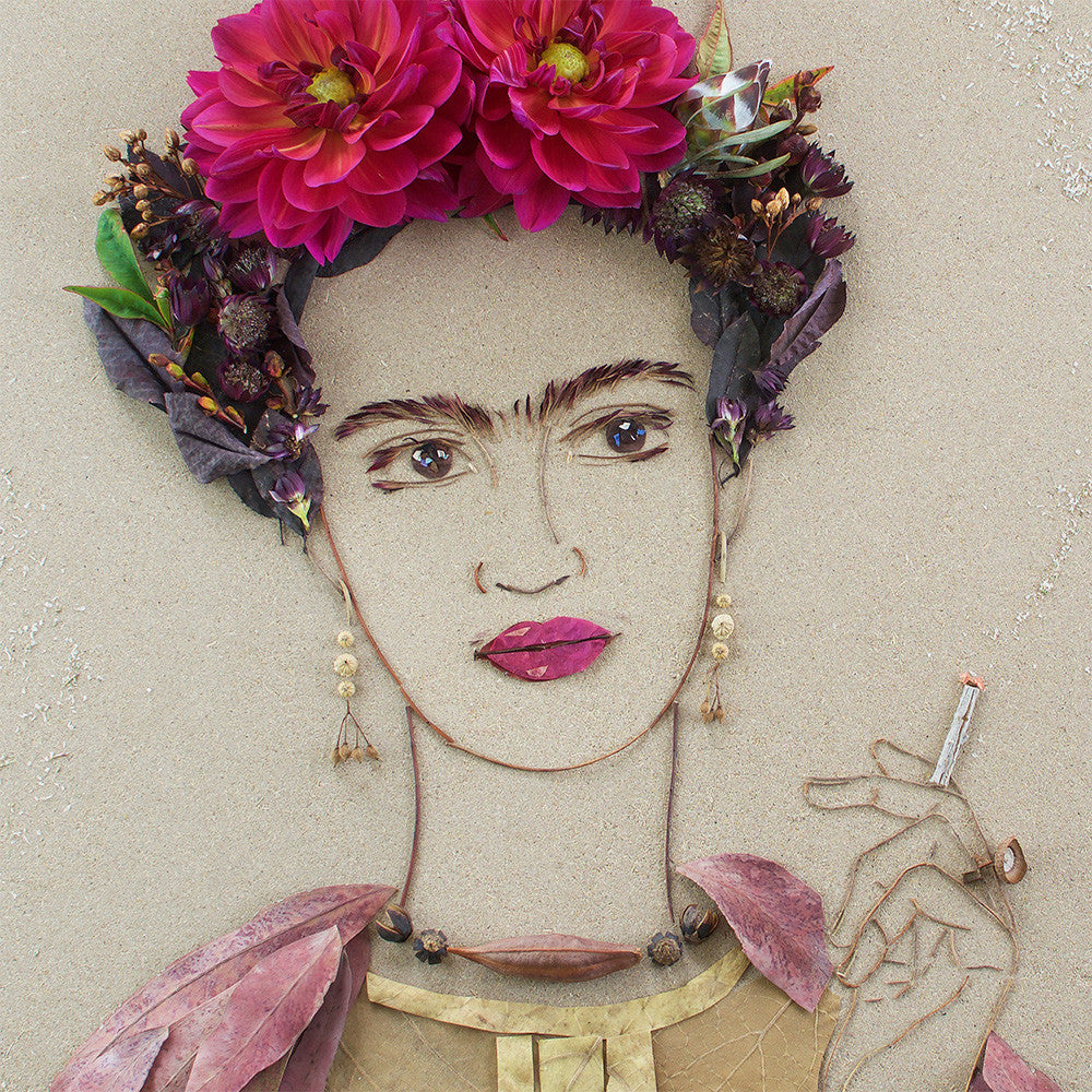"""Fierce Frida"" Flower Print - Sister Golden"
