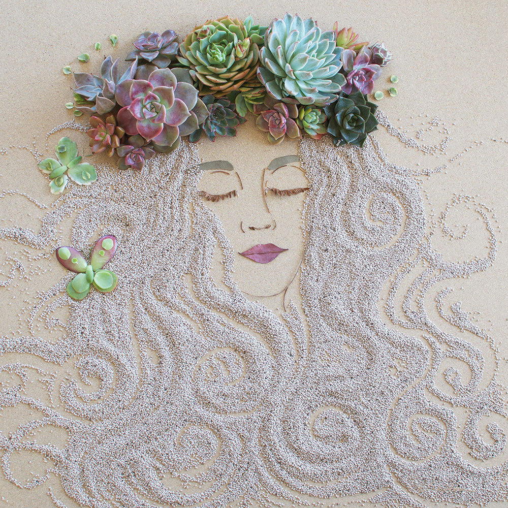 """Succulent Fairy"" Flower Print - Sister Golden"