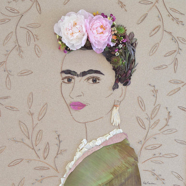 """Suprema Frida"" Flower Print - Sister Golden"