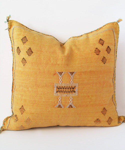 Tangerine Silk Sabra Pillow