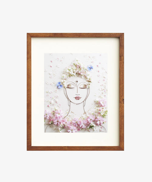 """Tranquility Buddha"" Flower Face Print"