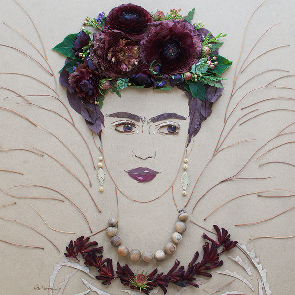 """Saint Frida"" Flower Face Print"