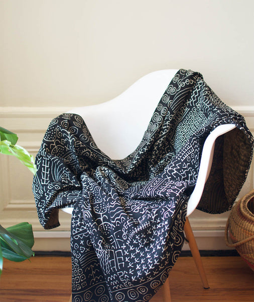 Lines and Dots Malian Throw