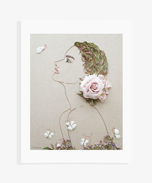 """Bloom Where You're Planted"" Flower Print"