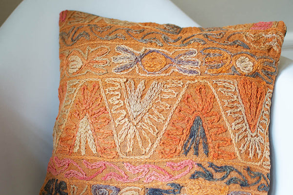 Embroidered Kilim Pillow II