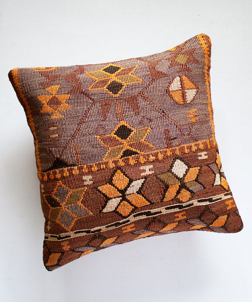 Orange Retro Kilim Pillow II