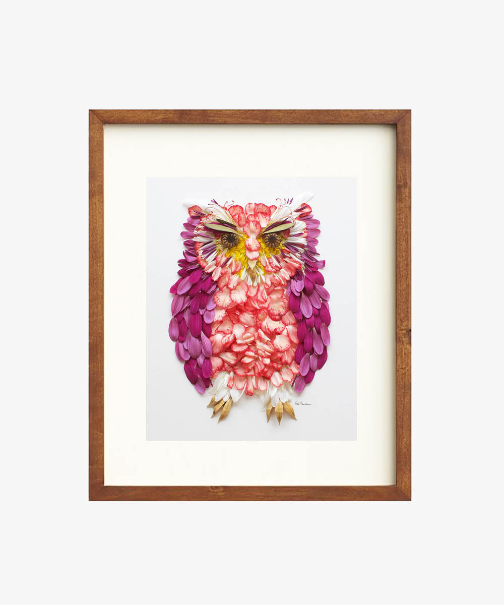 """Owl You Need is Love"" Flower Print - Sister Golden"