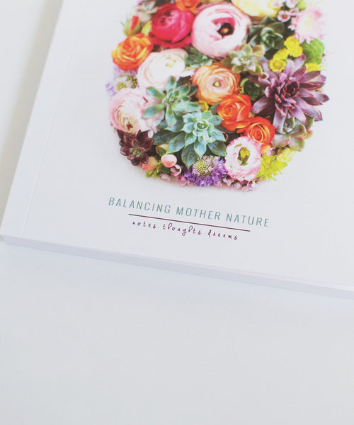 Balancing Mother Nature Notebook - Sister Golden