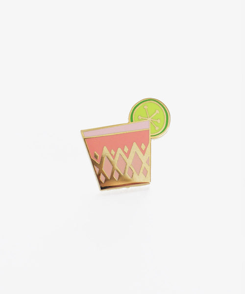Flamingo Pink Cocktail Pin - Sister Golden